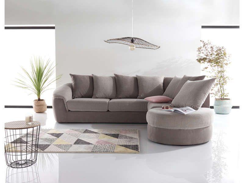 Canape D Angle Fixe Droit 5 Places Boreal En Tissu Pas Cher Canape Conforama Bon Shopping Com Canape Conforama Deco Canape Gris Canape Angle