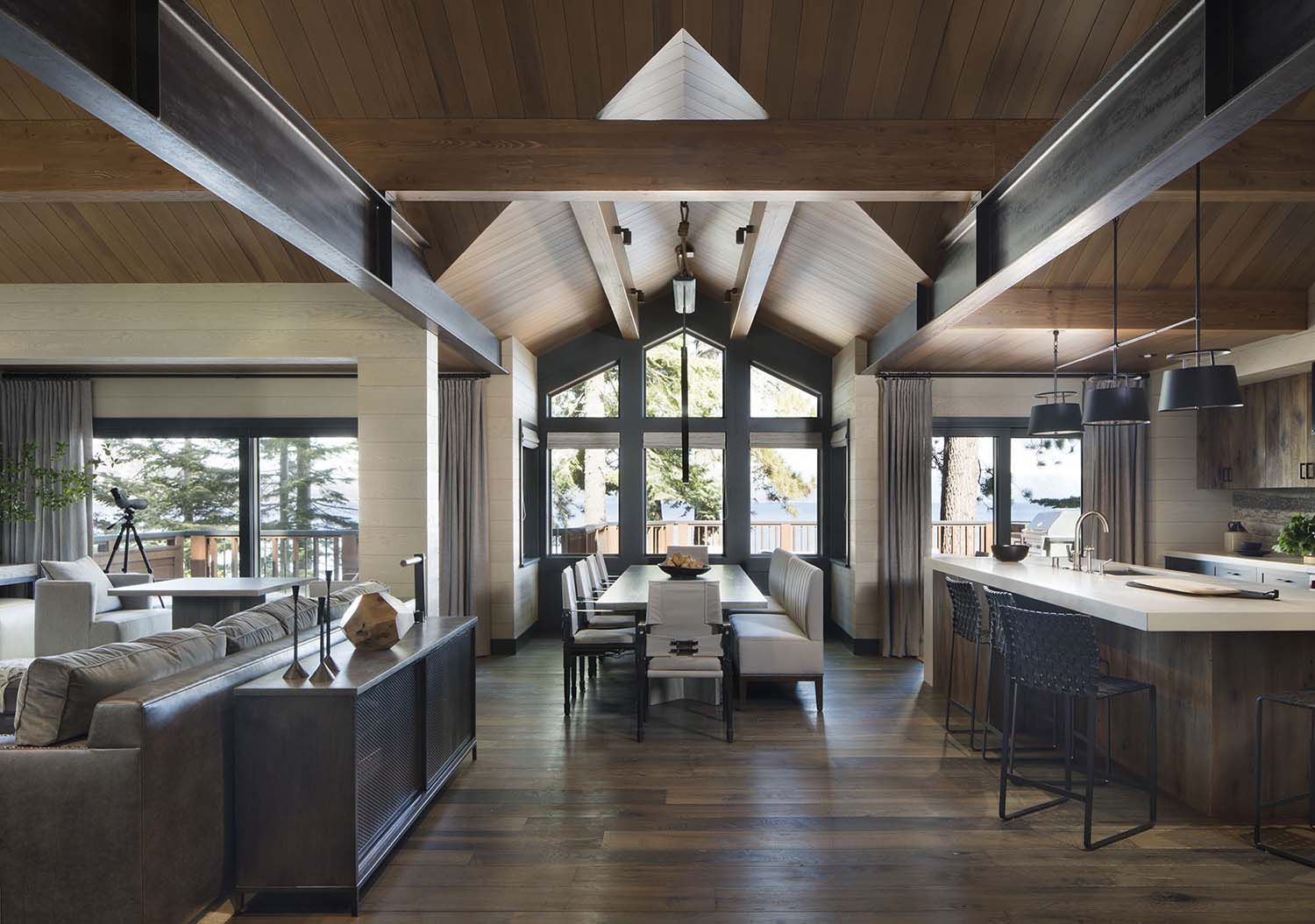 Rustic Lake House Retreat Inspired By Gorgeous Lake Tahoe Surroundings Rustic Lake Houses Home House