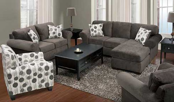 american furniture living room sectionals cheap table sets warehouse we are looking for a black or grey soft couch sectional this set would look nice