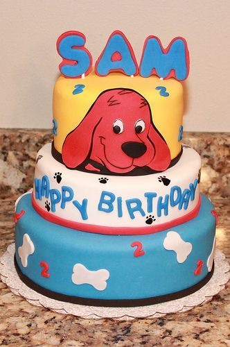 Adorable Clifford Birthday Cake