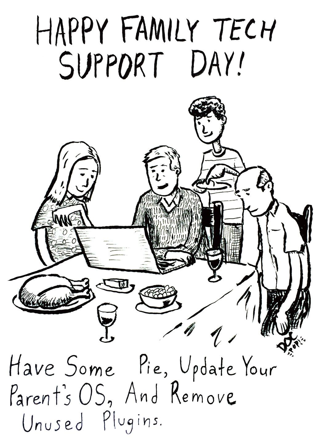 Toons Family Tech Support Day Tech humor, Tech support