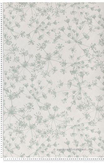 Apiacees Vert De Gris Papier Peint Jardin D Hiver De Montecolino