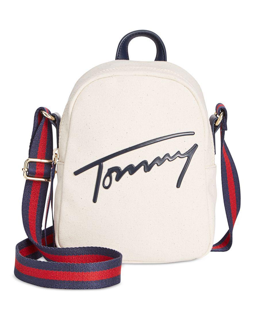 24db321a05b Tommy Hilfiger Tommy Script Mini Crossbody Backpack. Encuentra este Pin y  muchos más en Bolsos ...