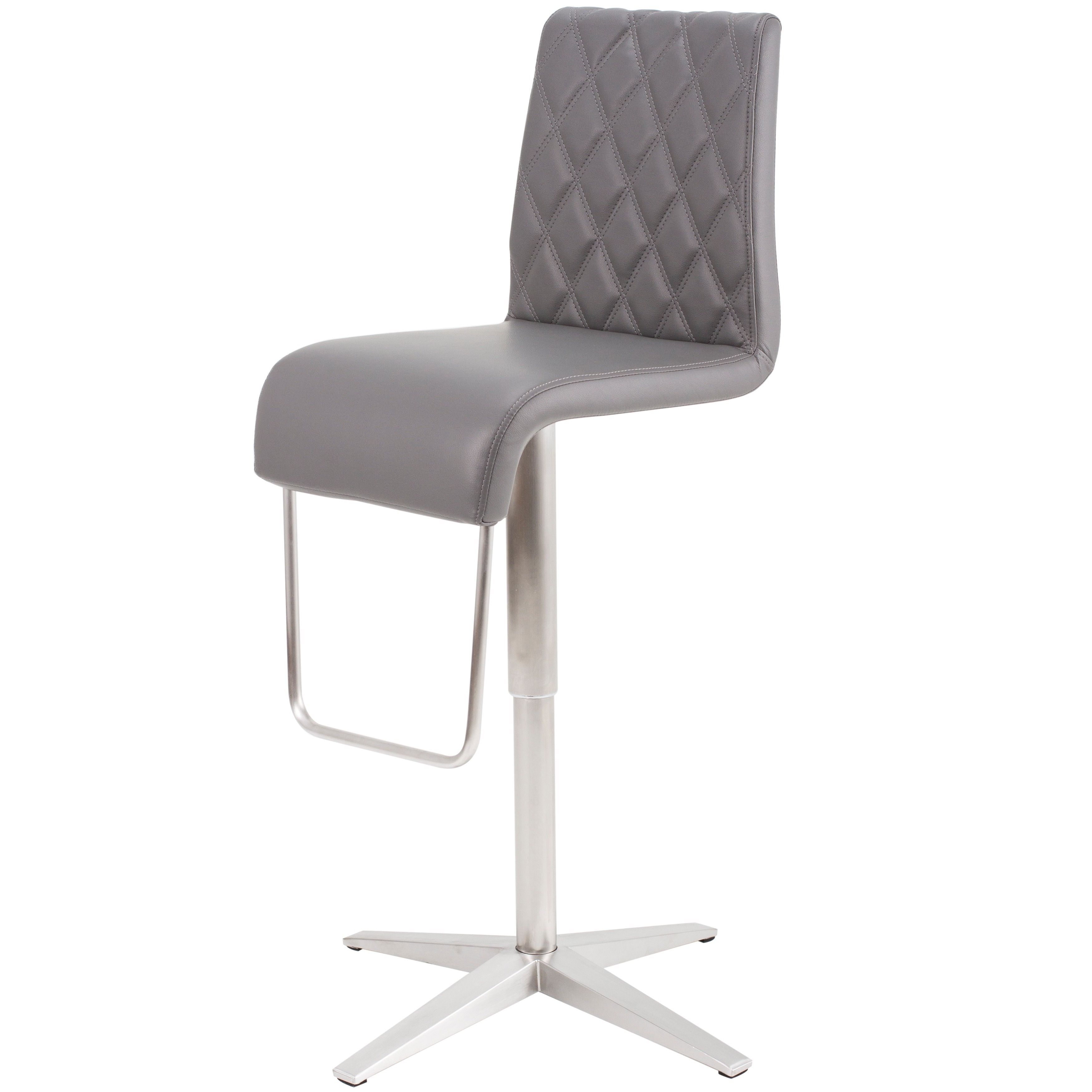 Marvelous Mix Brushed Stainless Steel Silver Diamond Pattern High Machost Co Dining Chair Design Ideas Machostcouk