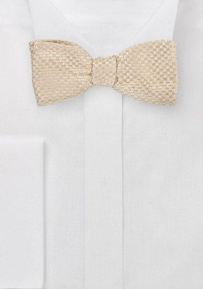 Selbstbinder Fliege Beige Schachbrett Oberflache Krawatte Net Anzug Hochzeit Vintage Hochzeit Seide