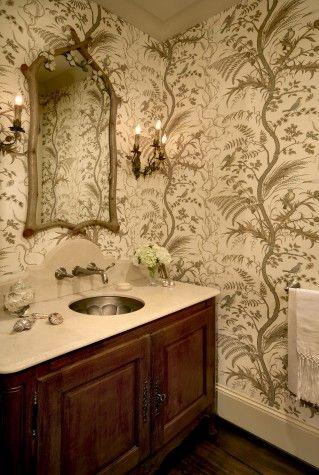 Memorial, Powder Bath Inspiration, Wallpaper | @lucaseilers #HomeDecor #wallpaper #bathroom