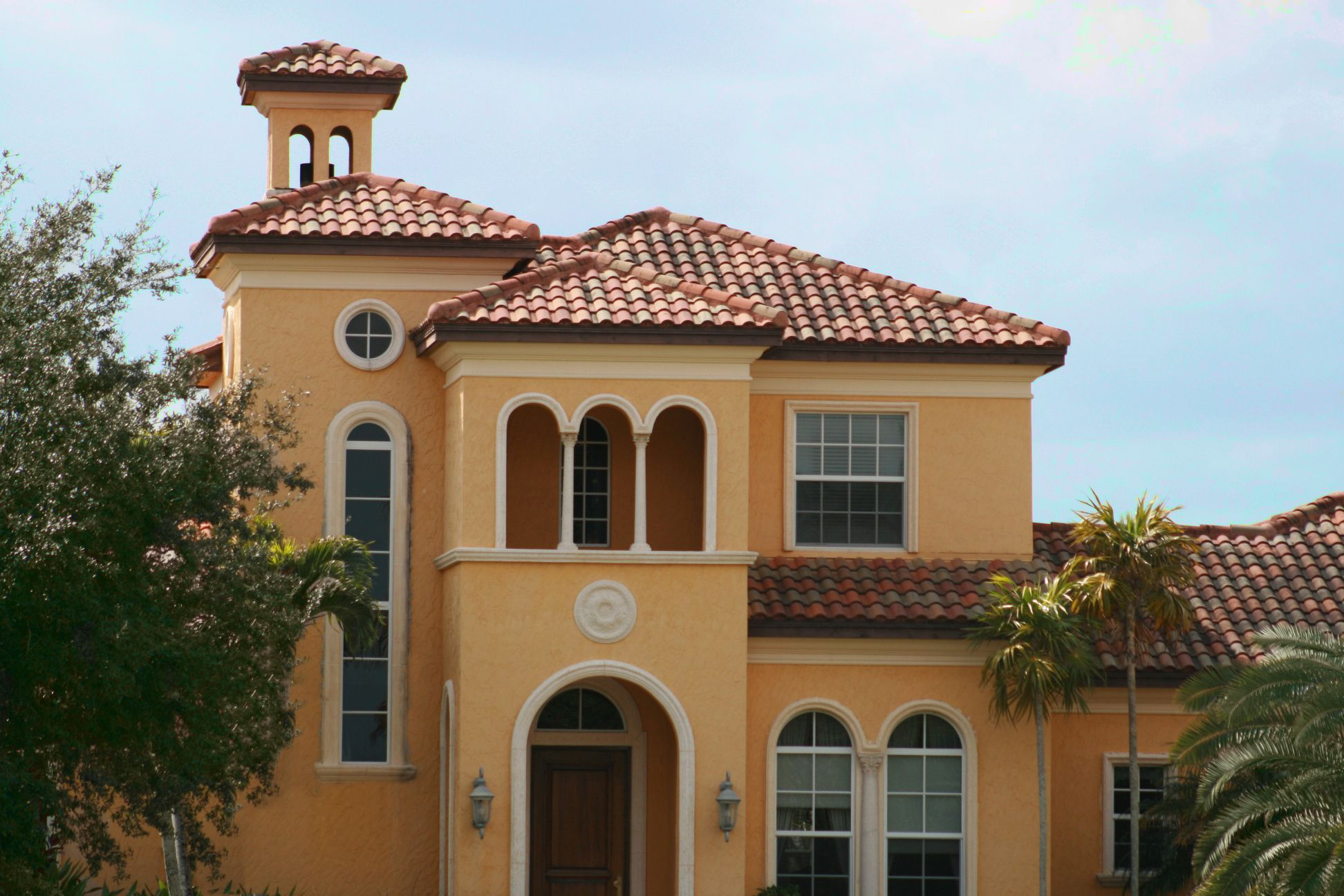 Spanish Style Home with Tile Roof