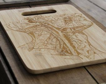 Laser Engraved Bamboo Cutting Board House Warming by AFamilyForest