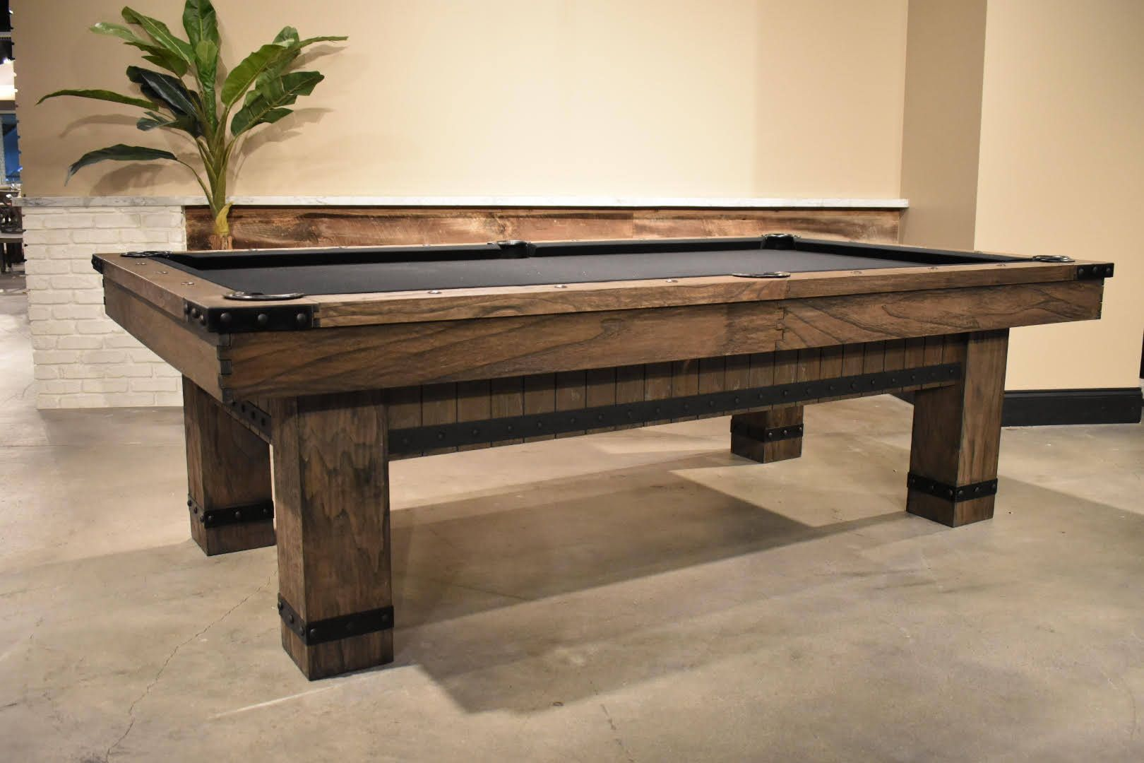 Industrial Rustic Pool Table Game Room Furniture Home Bar