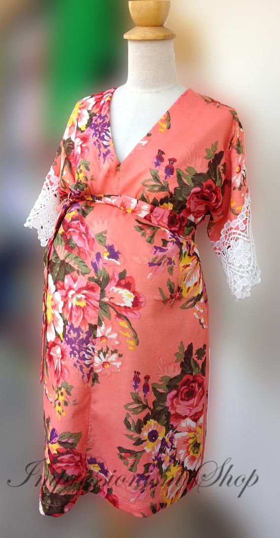 To be Mom, Maternity Hospital Gown, Maternity gown Maternity Robe ...