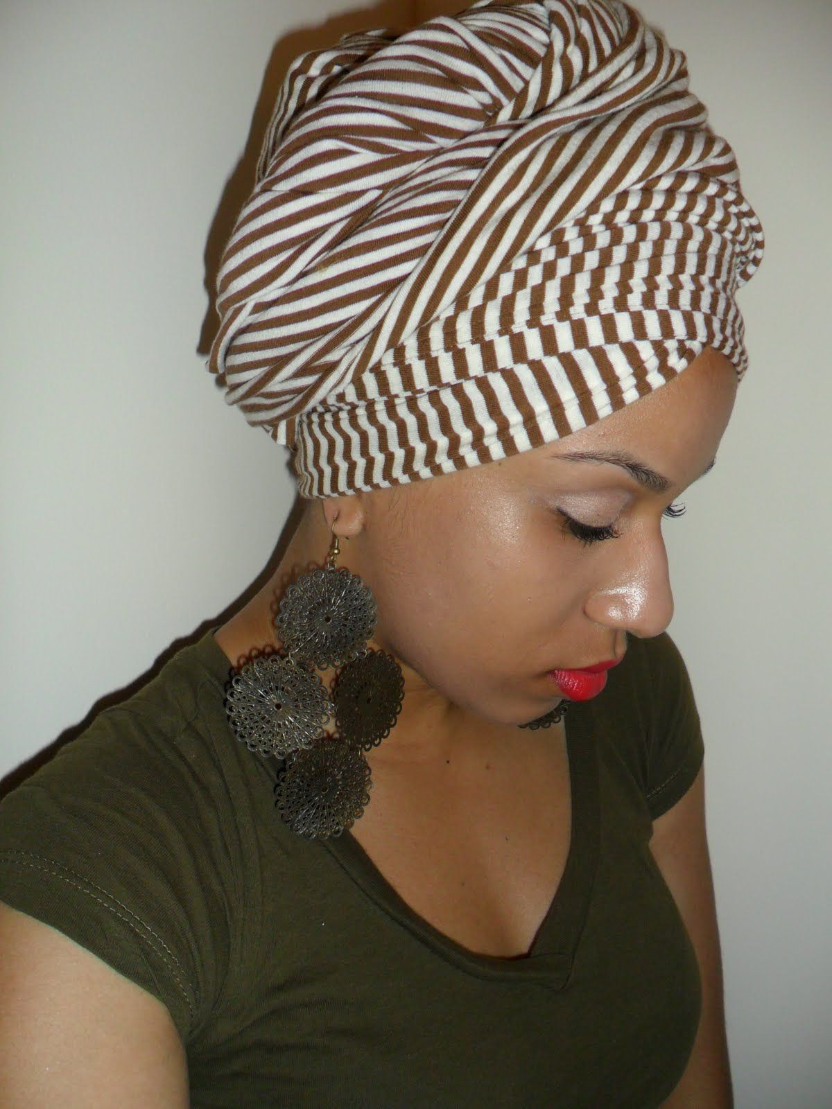 Fashionable head wrap! Get your favorite scraf and protect ...