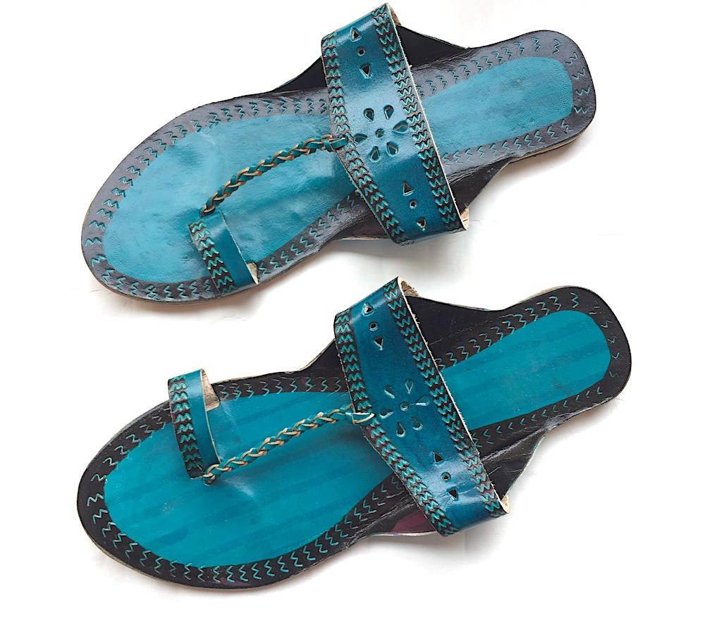 929bfa2c7949 This listing is for deep teal blue kolhapuri chappals enhara jpg 1000x880 Deep  teal blue sandals
