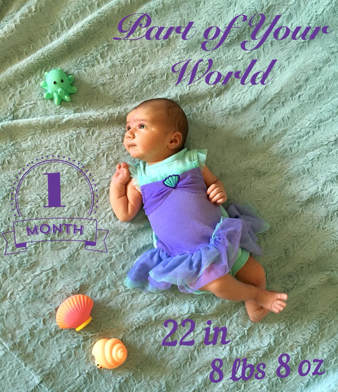 1 month baby photography
