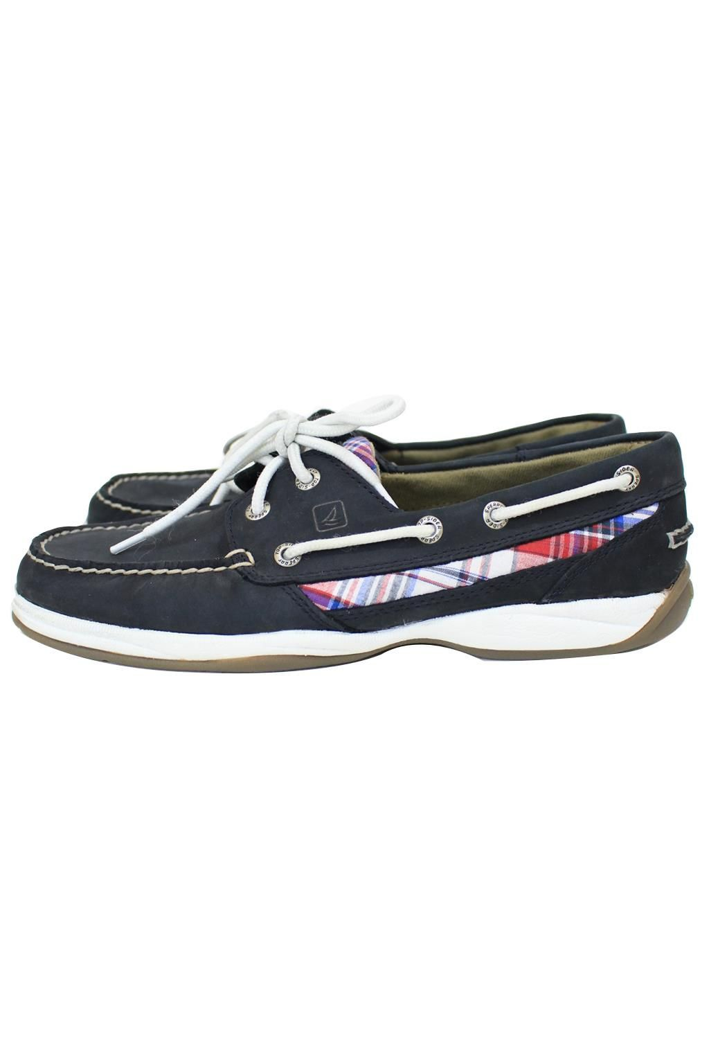 huge discount 2bd15 06d7e Sperry TopSider Navy With Plaid Deck Boat Shoes Size 9.5 Nike Joggeurs, Nike  Huarache,