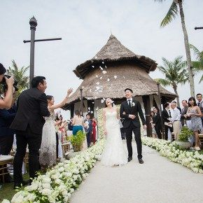 White And Blush Pink Wedding At Shangri-La's Rasa Ria Resort