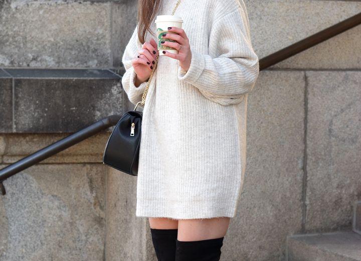 Zara strickkleid schwarz