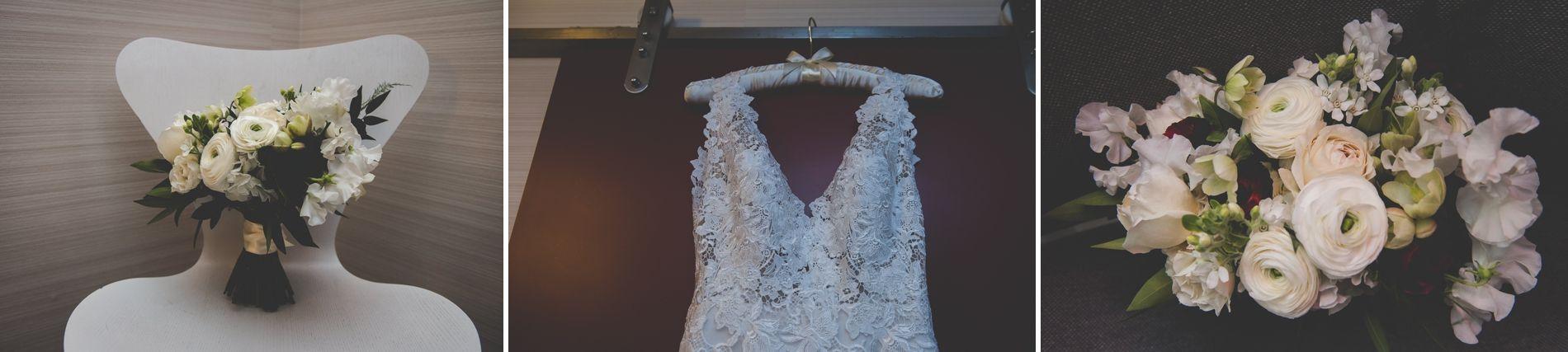 Wedding dress from Bella Moda,  Conshohocken PA, flowers by Falls Flowers || JG Domestic Wedding || Laura and Nate Get Married in Philadelphia || BG Productions || www.bgproonline.com