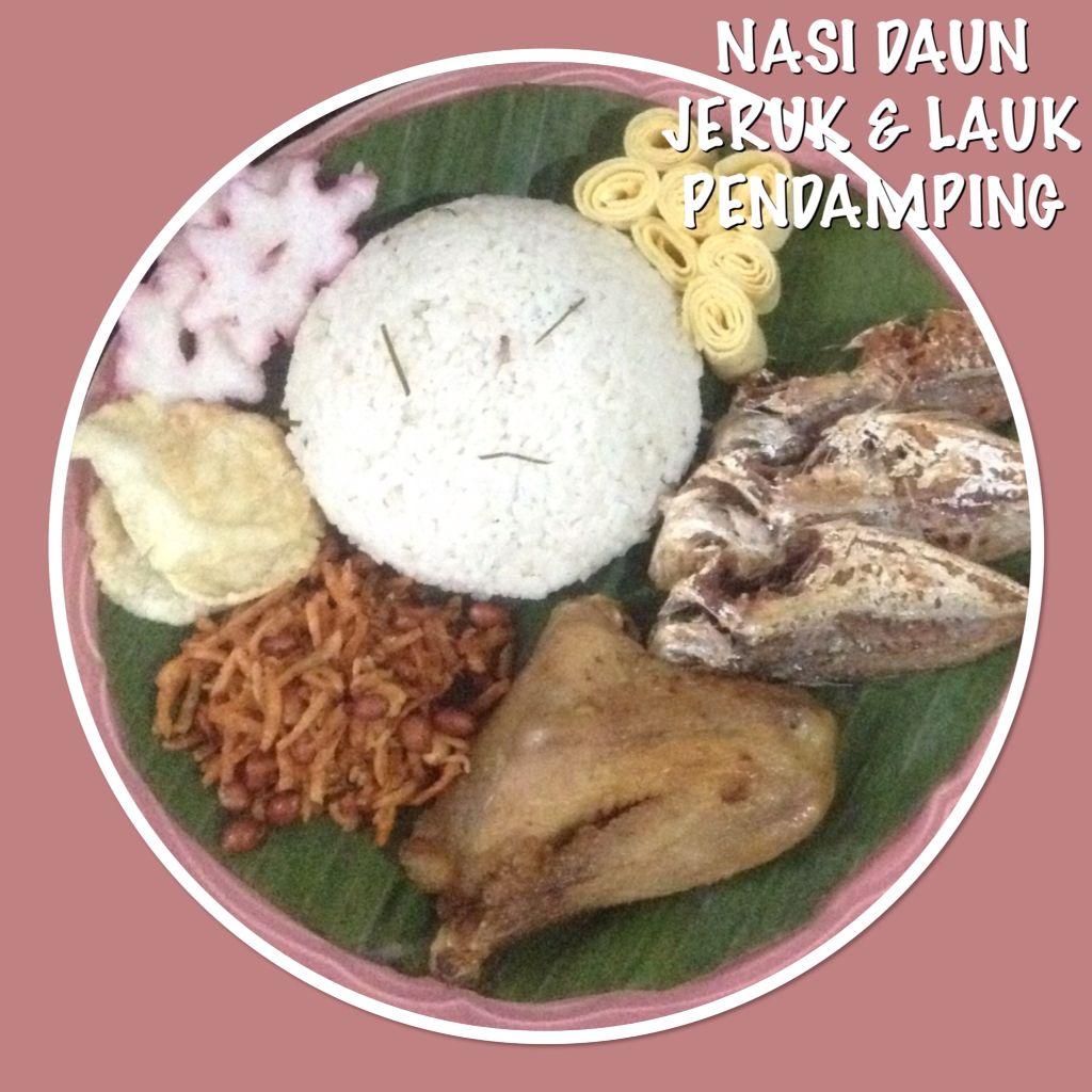 Nasi Daun Jeruk Lauk Pendamping Indonesian Food Nasi