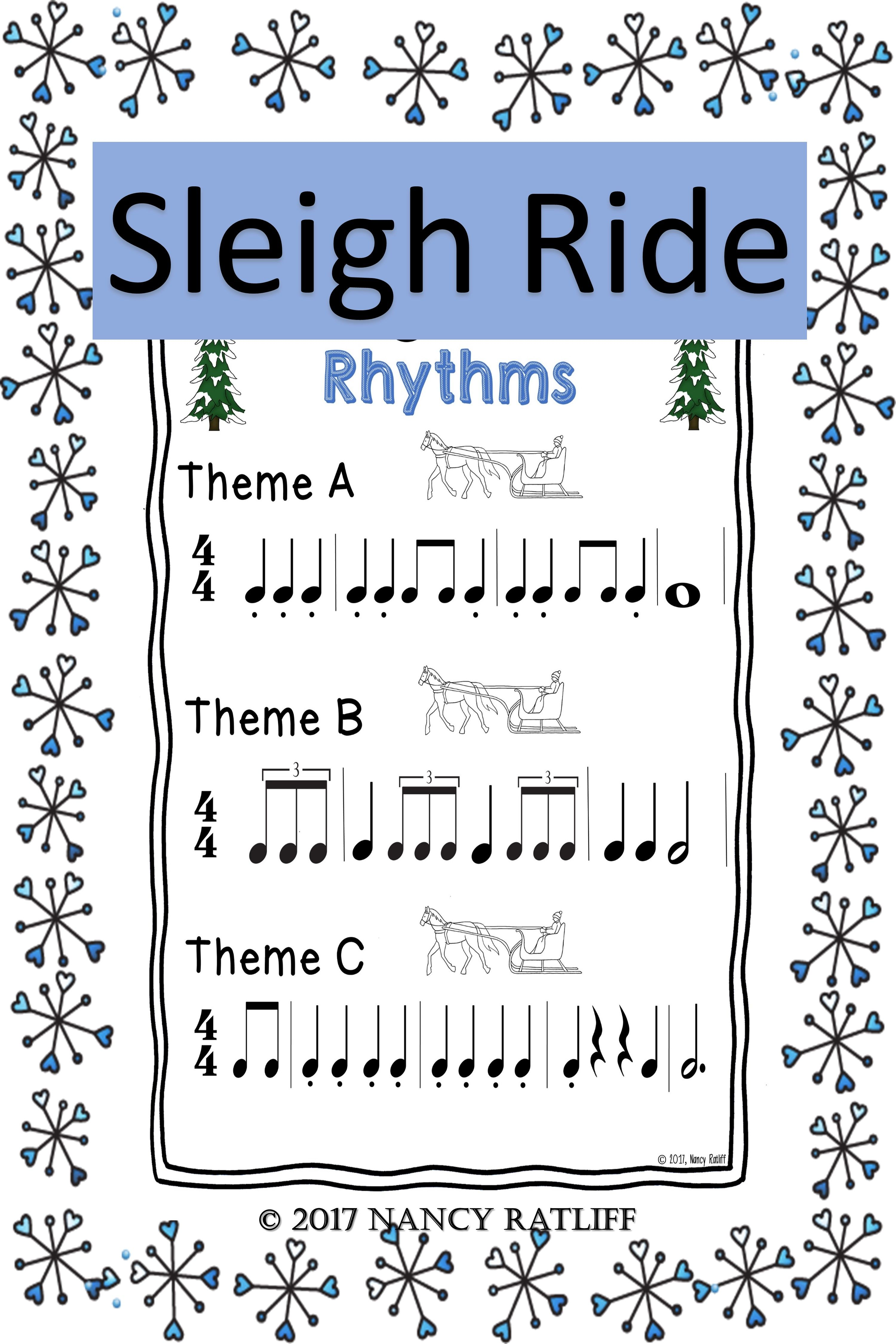 Sleigh Ride Music Listening And Mood Activities And