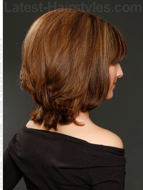 Back View Shoulder Length Layered Haircuts For Thick Hair 16