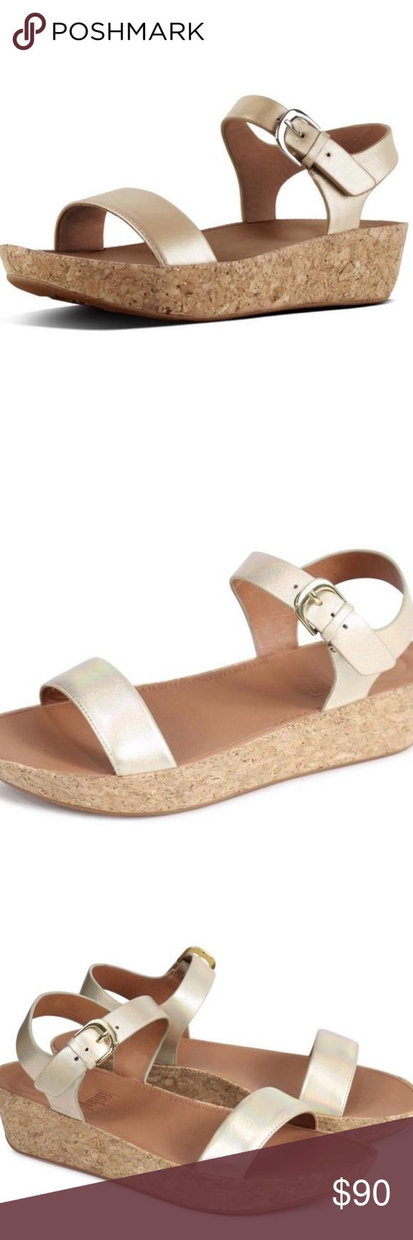 238cc8d82311 Fitflop Bon II Back Strap Sandals Size 8 Gold Fitflop Bon II Back Strap  Sandals Size