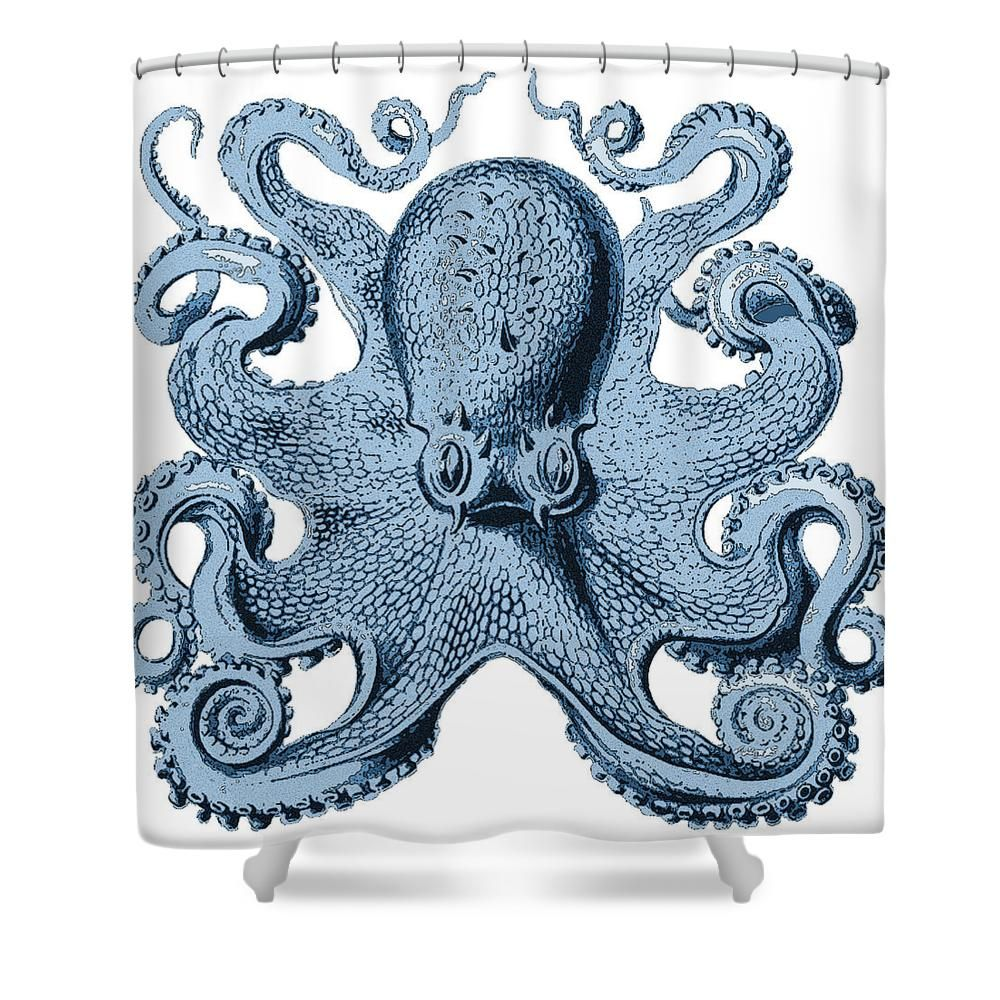 Vintage Octopus Shower Curtain For Sale By Joy McKenzie
