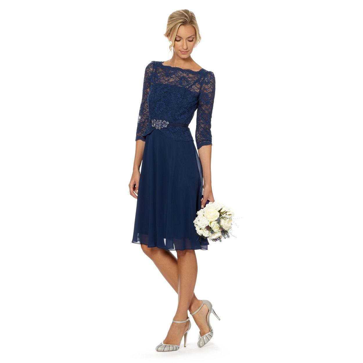 Pin by jennifer farrell on bridesmaid dresses pinterest 1 jenny packham designer mid blue lace bodice midi dress at debenhams ombrellifo Choice Image