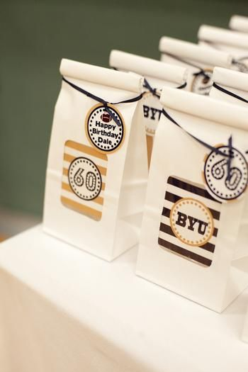 I Like The Idea Of Little Goodie Bags Surprise Football 60th Birthday Party 70th