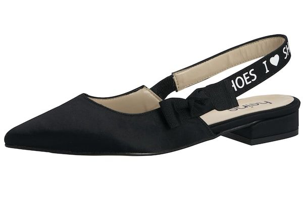 Heine Ballerina schwarz weiß #schuhe #fashion #shoes
