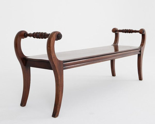 Antique mahogany hall bench - English 18th and 19th Century Antique  furniture dealer - Lennox Cato - Antique Mahogany Hall Bench - English 18th And 19th Century Antique