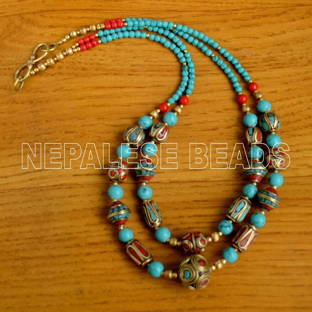 Diya16 nepalese tibetan turquoise coral brass do it yourself diya16 nepalese tibetan turquoise coral brass do it yourself necklace eksha necklaces solutioingenieria Images