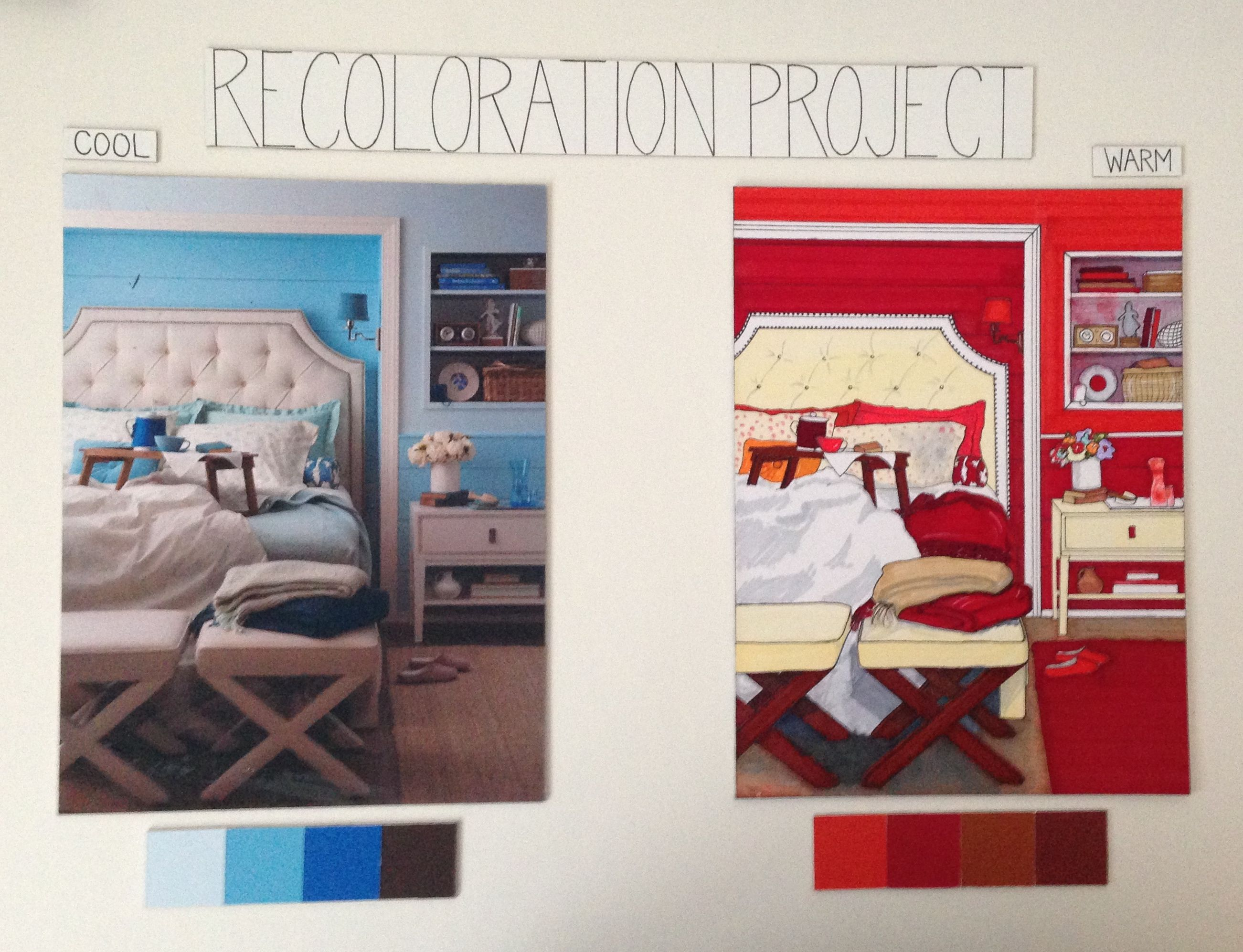 Recoloration Assignment from first semester of Interior Decorating ...