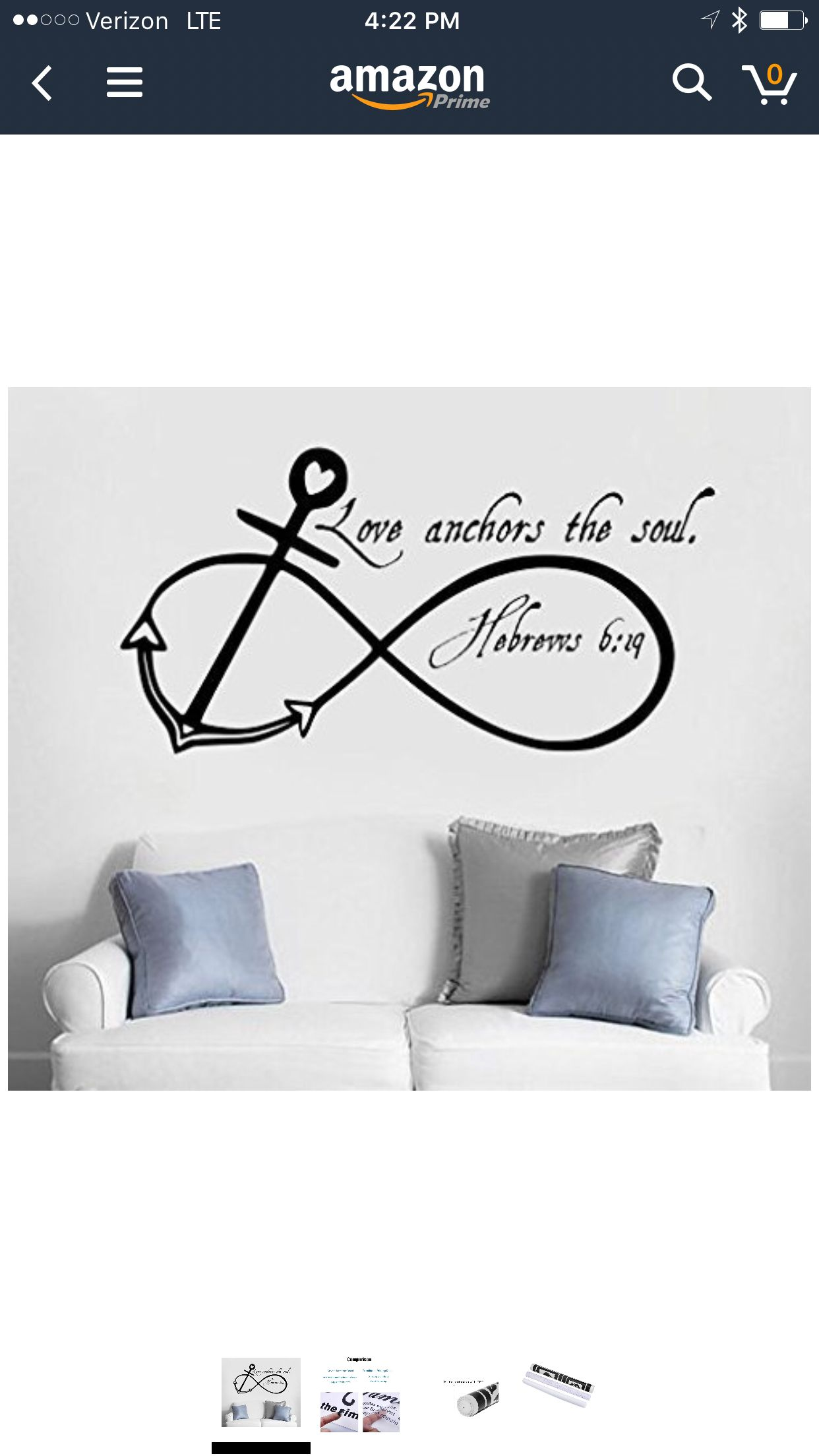 Wall Stickers Love Anchors Soul Marriage Bathroom Sea Art Decals Vinyl Home Room