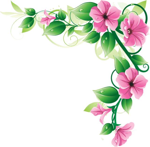 pin by on art pinterest corner flowers and clip art rh pinterest com clipart-flower borders and frames clip art flower borders for funeral programs