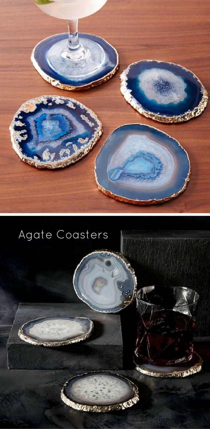 amusing living room west elm decorate shiny | These shiny agate coasters from West Elm are like jewelry ...
