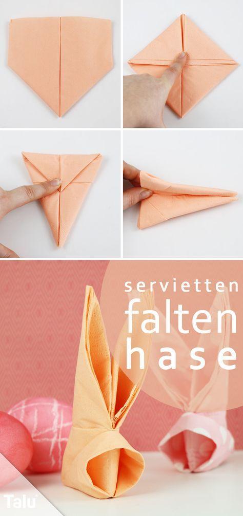 Osterhasen Aus Servietten Falten servietten falten osterhase anleitung talu de deko