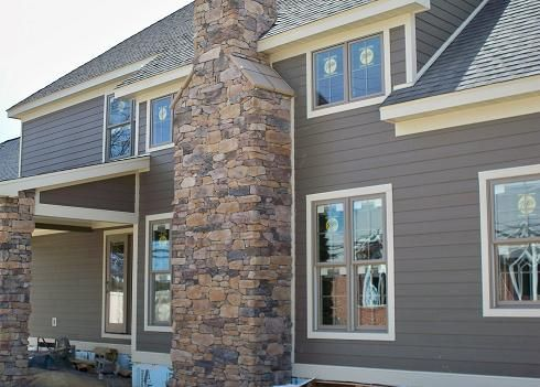 Colori Per Rivestimenti Esterni : Monterey taupe hardie board timber bark siding and navajo beige