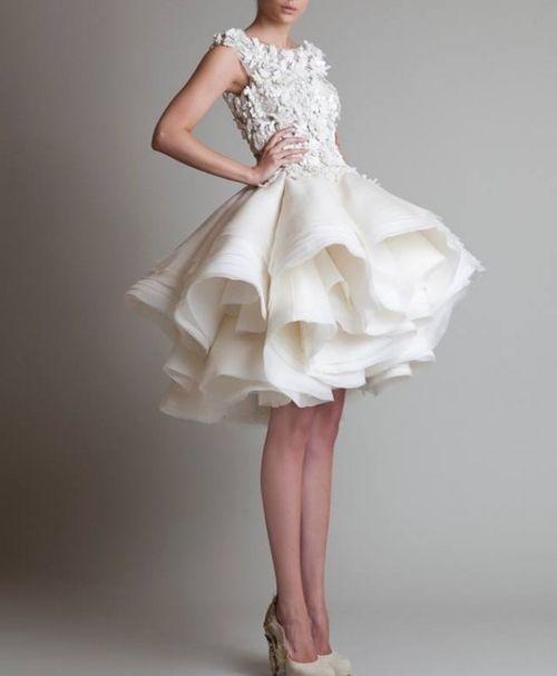 White Cocktail Dress Short Wedding Dress Gowns Wedding Dresses