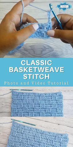 Crochet Basketweave Stitch Instructions by Craftin