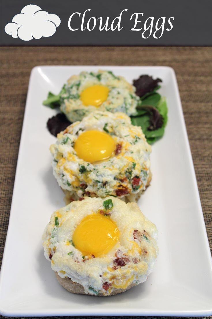 Cloud eggs with bacon #cloudeggs