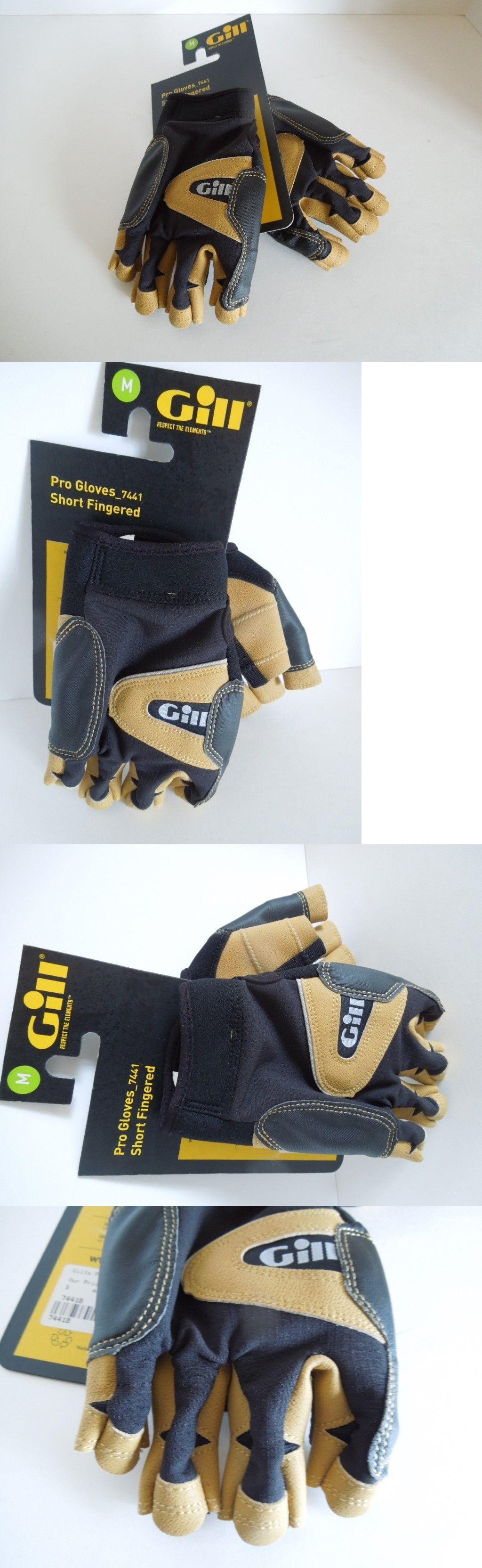 Gloves gill short finger pro gloves medium black brand