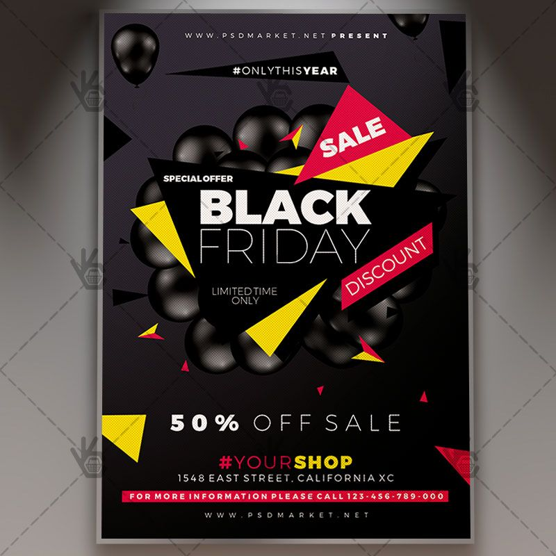 Black Friday Offer  Community Flyer Psd Template Black