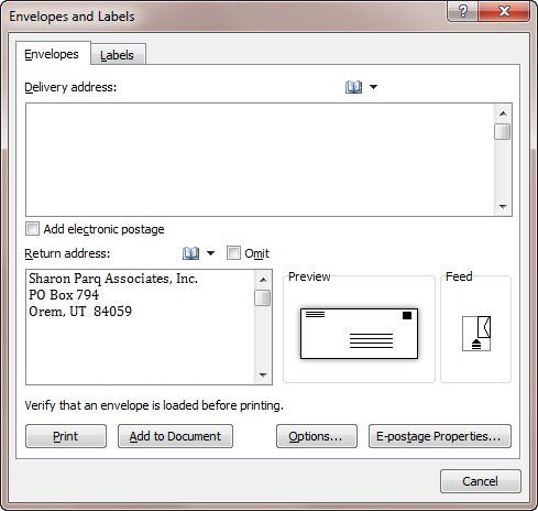 Multiple Envelopes in One Document (Microsoft Word)   Technical