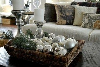 nice 45 minimalist christmas coffee table centerpiece ideas