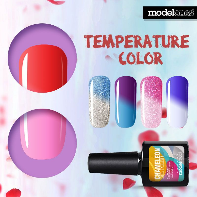 Aliexpress Com Buy Modelones 10ml Temperature Changing Uv Gel Nail Soak Off Uv Gel Nails Gel Polish Colors Gel Manicure