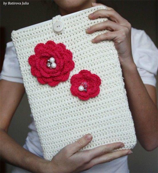 Crochet Ipad cover   Malhas   Pinterest   Ideas navideñas regalos ...