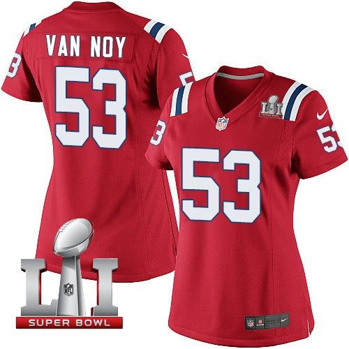 ... hot jersey womens nike new england patriots 53 kyle van noy elite red  alternate super bowl f7c6fa26d