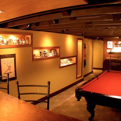 basement photos ceiling joists design ideas pictures on incredible man cave basement decorating ideas id=73538