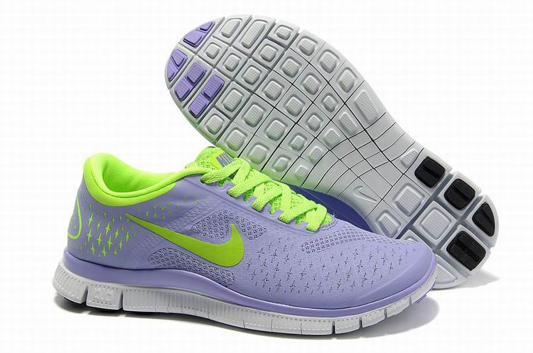 Cheap Nike Free 4.0 V2 Medium Violet Electric Green Pure