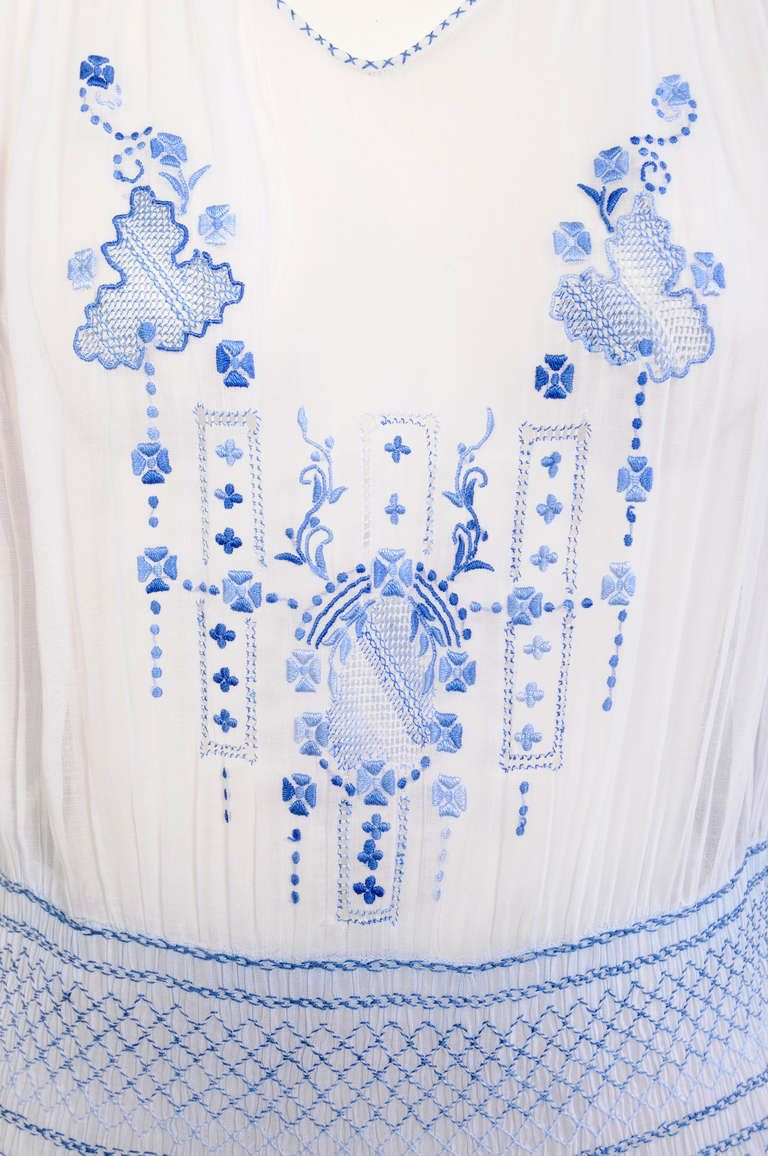1920's Hand Made Romanian Dress | From a collection of rare vintage day dresses at http://www.1stdibs.com/fashion/clothing/day-dresses/